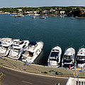 panoramic town 1 - Panorama of Port Mahon Menorca by Pedro Cardona Llambias