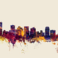 Phoenix Arizona Skyline by Michael Tompsett