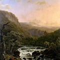 River In The Ardennes At Sunset by Henri van