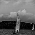 Sail Boat On Large Lake by Alex Grichenko