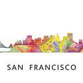 San Francisco California Skyline by Marlene Watson