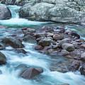 Slow Shutter Photo Of Figarella River At Bonifatu In Corsica by Jon Ingall