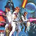 Star Wars A Poster by Larry Jones