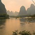 Sunset On The Li River by Michele Burgess