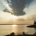 Sunset Over The Mekong In Laos by Didier Marti