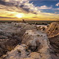 Sunset Over Walls Of China In Mungo National Park, Australia by Miroslav Liska