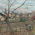 The Fence by Camille Pissarro