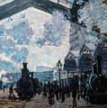The Gare St Lazare by Claude Monet