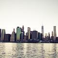 View Of Lower Manhattan Skyscrapers And Huge Sky by Leonardo Patrizi