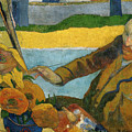 Vincent Van Gogh Painting Sunflowers by Paul Gauguin