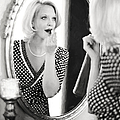 Vintage Val Black And White by Jill Wellington