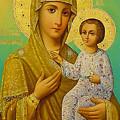 Virgin And Child Icon Christian Art by Carol Jackson