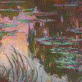 Water Lilies, Setting Sun by Claude Monet