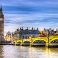 Westminster Bridge And Big Ben by David Pyatt