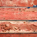 Wood Background With Faded Red Paint by Vladi Alon