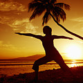 Yoga At Sunset by Ron Dahlquist - Printscapes