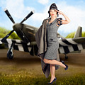 40s Military Pin Up Girl. Air Force Style by Jorgo Photography - Wall Art Gallery