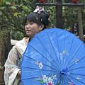 4479- Girl With Umbrella by David Lange