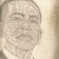 44th President Barack Obama By Artist Fontella Moneet Farrar by Fontella Farrar