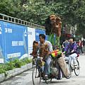 4714- Bicycle Vender by David Lange