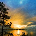 Nature Landscape Oil Painting by World Map
