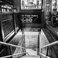 49 Street Subway Black And White  by John McGraw
