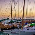 4956- Key West Harbor At Sunset by David Lange