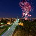 4th Of July Fireworks Portland Oregon by Jit Lim