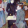 A Corner Of The Moulin De La Galette by Henri de Toulouse Lautrec