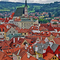 A View Of Cesky Krumlov In The Czech Republic by Richard Rosenshein