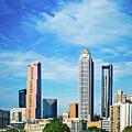 Atlanta Downtown Skyline With Blue Sky by Alex Grichenko