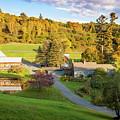 Autumn Farm In Vermont by Brian Jannsen