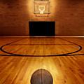 Basketball And Basketball Court by Lane Erickson