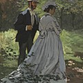 Bazille And Camille by Claude Monet