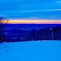 Beautiful Winter Landscape At Timberline West Virginia by Alex Grichenko