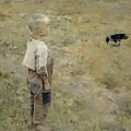 Boy With A Crow by Mountain Dreams