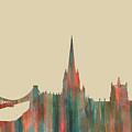Bristol England Skyline by Marlene Watson