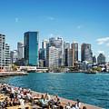 central sydney CBD  area skyline and circular quay in australia by Jacek Malipan