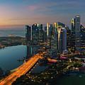 Cityscape Of Singapore City by Anek Suwannaphoom