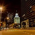 Downtown Tampa Florida Skyline At Night by Alex Grichenko