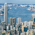 Hong Kong Harbour View From The Peak by Tuimages