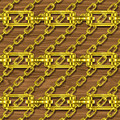 Iron Chains With Wood Seamless Texture by Miroslav Nemecek