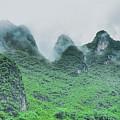 Karst Mountains Rural Scenery by Carl Ning