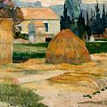 Landscape Near Arles by Paul Gauguin