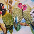 Flygende Lammet     Productions          5 Lovebirds Sitting On A Twig by Sigrid Tune