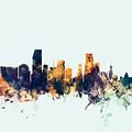 Miami Florida Skyline by Michael Tompsett