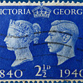 Old British Postage Stamp by James Hill