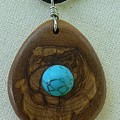 Olive Wood Necklace by Eric Kempson