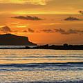 Orange Sunrise Seascape by Merrillie Redden