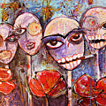 5 Poppies For The Dead by Laurie Maves ART